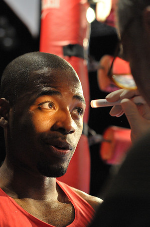 Lance Henry of Sweet Science boxing receives his post-fight medical exam.